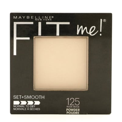 Polvo Compacto Maybelline Fit Me! Set+Smooth 125 Nude Beige x 9 g