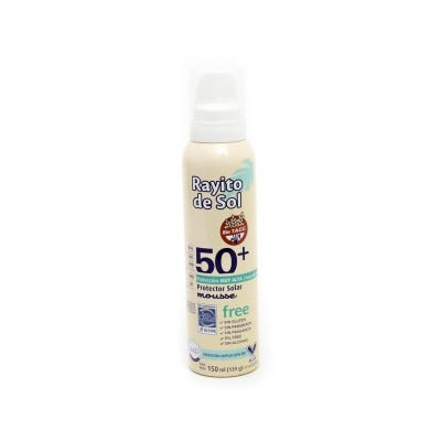 Mousse Protector Solar Rayito de Sol Gluten Free FPS50 x 150 ml