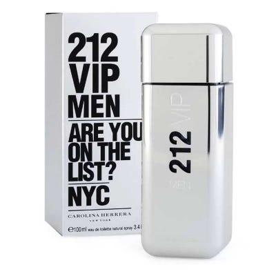 212 Vip Men By Carolina Herrera Eau De Toilette Masculino x 100 ml