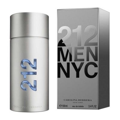 212 Men By Carolina Herrera Eau De Toilette Masculinox 100 ml